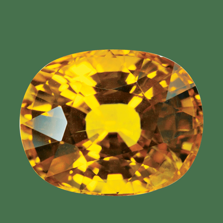 golden sapphire gem