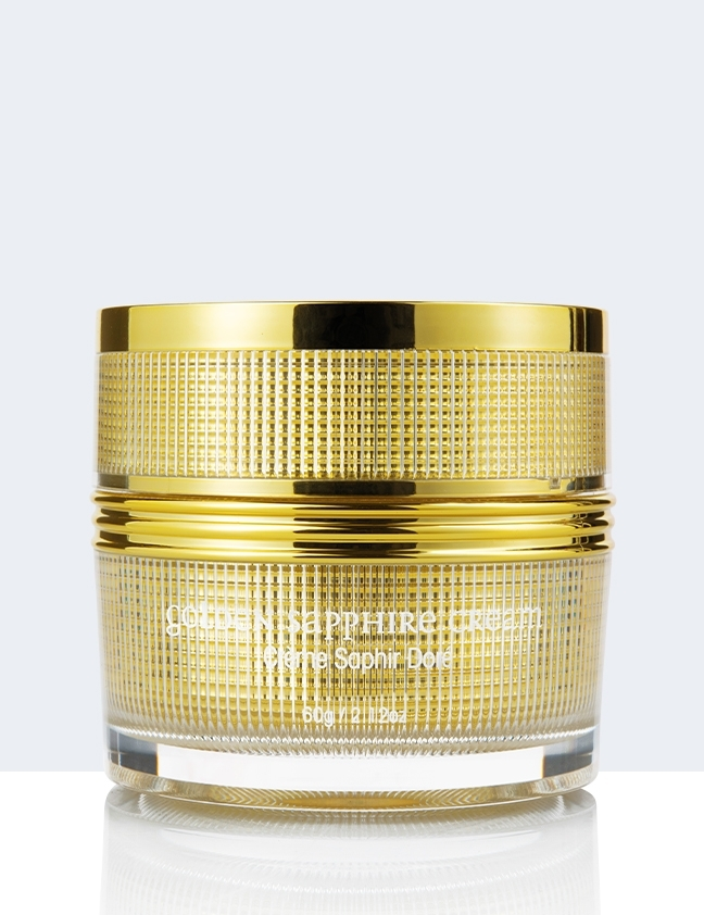 golden sapphire cream back
